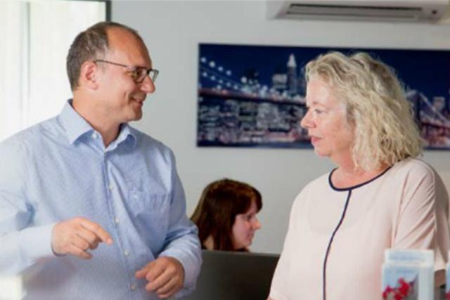 eezytool Geschäftsführer Marc Löwenthal sowie Reto Schaub Geschäftsführer der Phinex Informatik AG